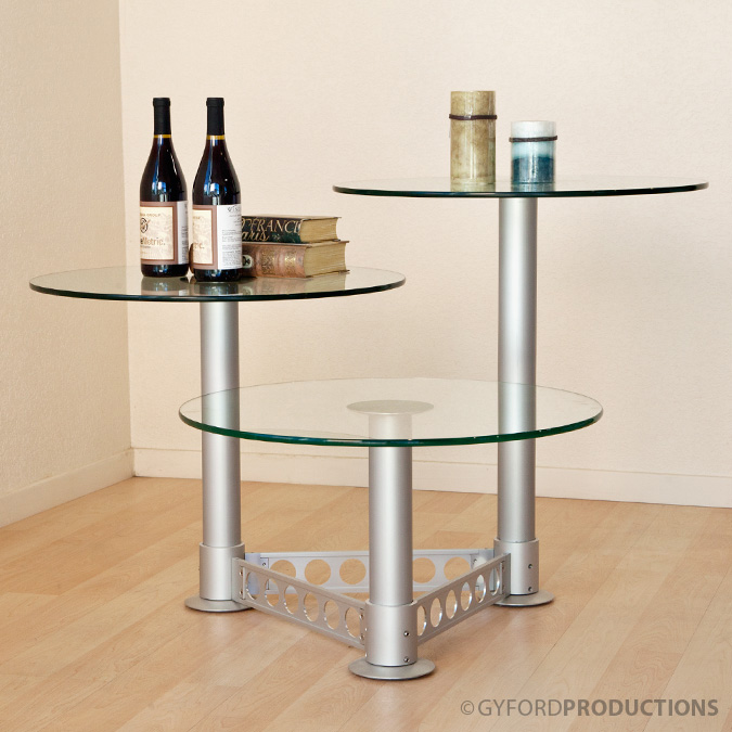 StructureLite 3 Tiered Glass Table