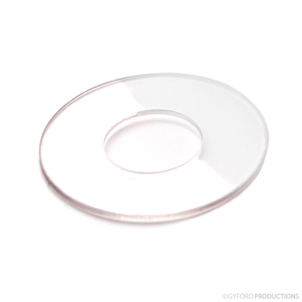 1″ Diameter Clear Vinyl Washer