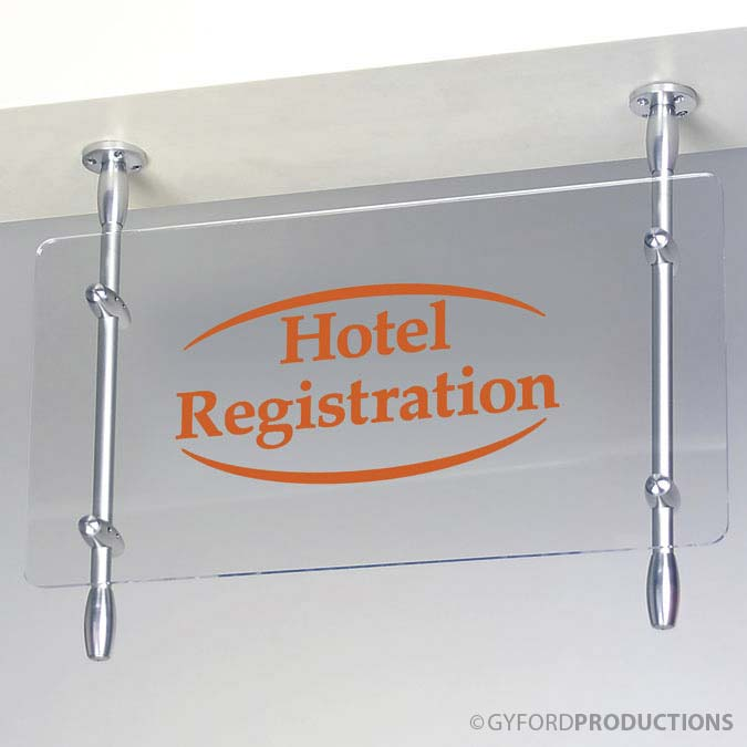 Rod Mounted Hotel Sign
