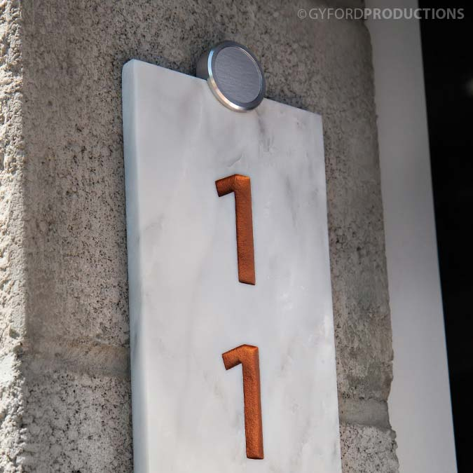 StandOffs Edge Clips on Sign