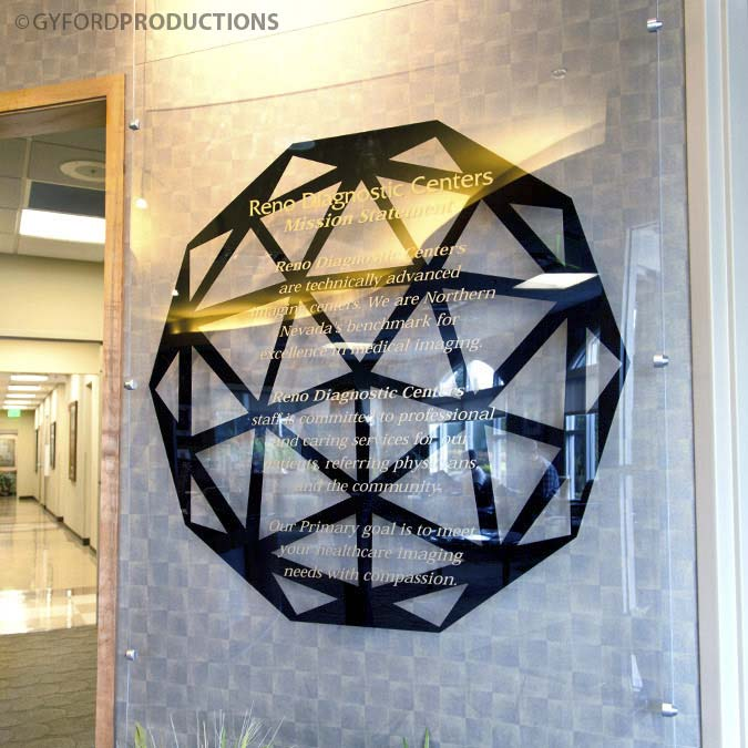Suspended Glass Panel