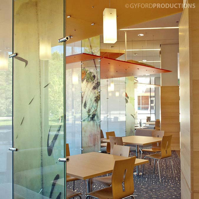Suspended Glass Panels