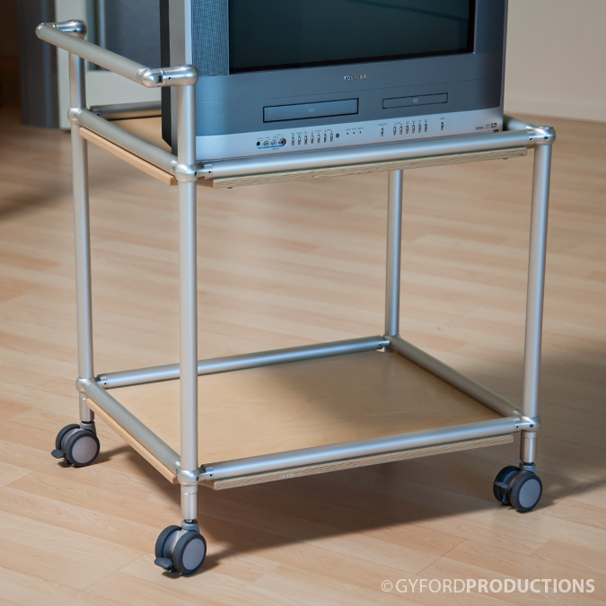 TV Rolling Cart using StructureLite