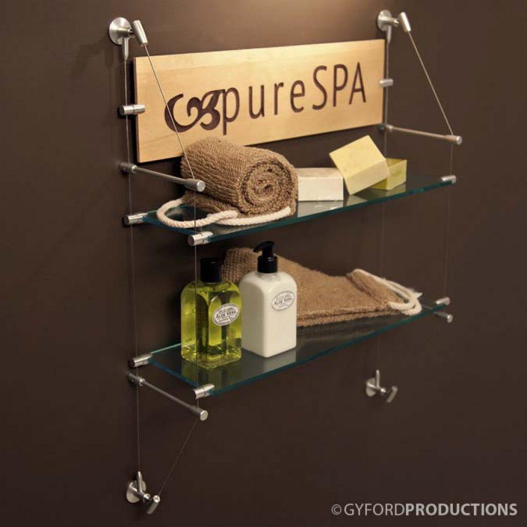 Spa Shelf Display