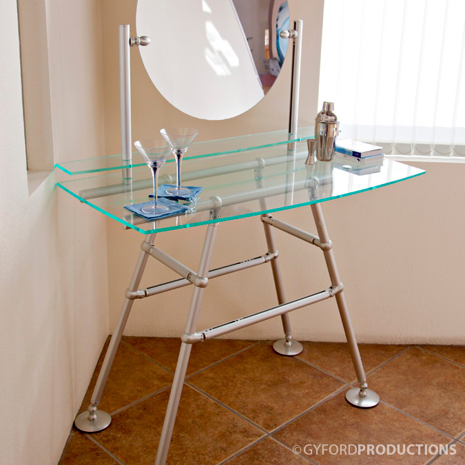 Glass Vanity Structure