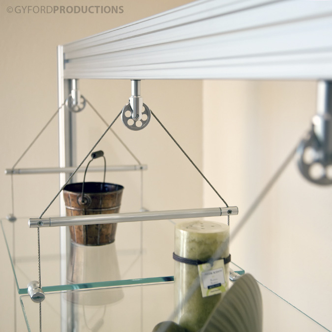 Pulley Wheel Shelf