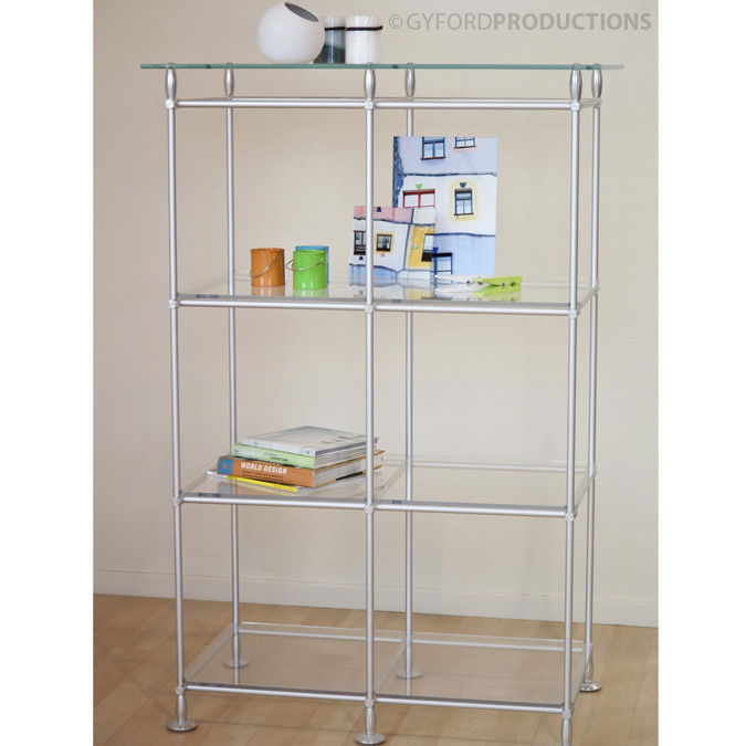EZ Rod Glass Bookcase