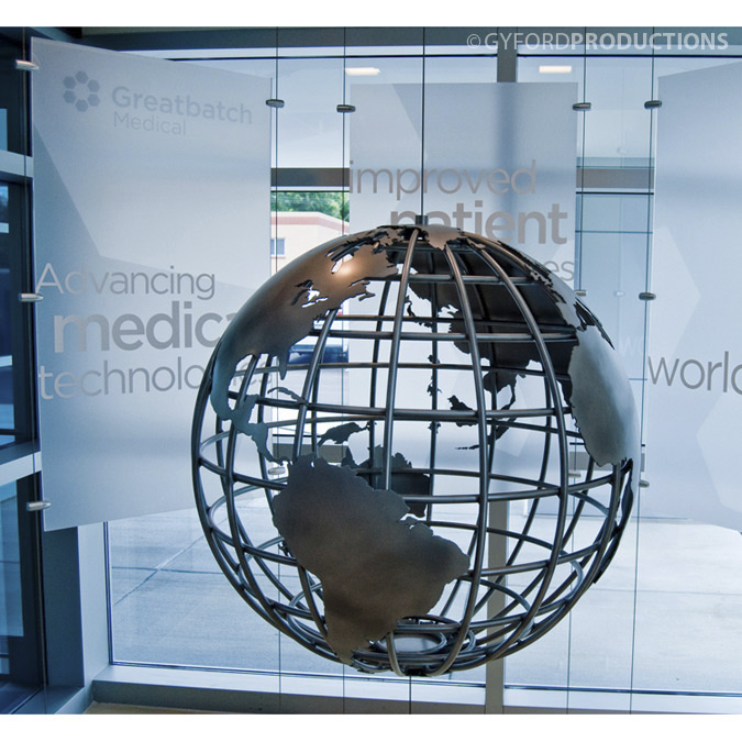 Wire Suspended Globe