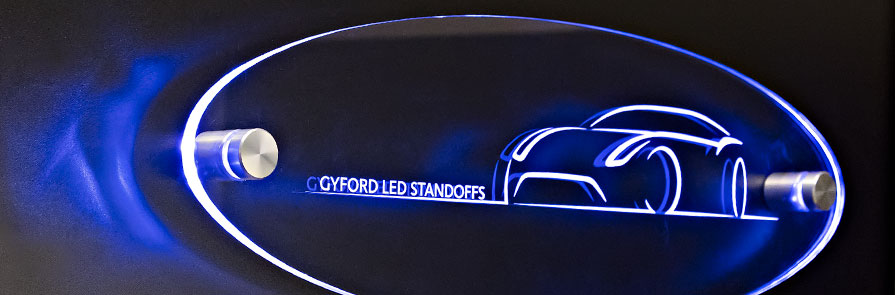 LED Standoffs illuminated panel