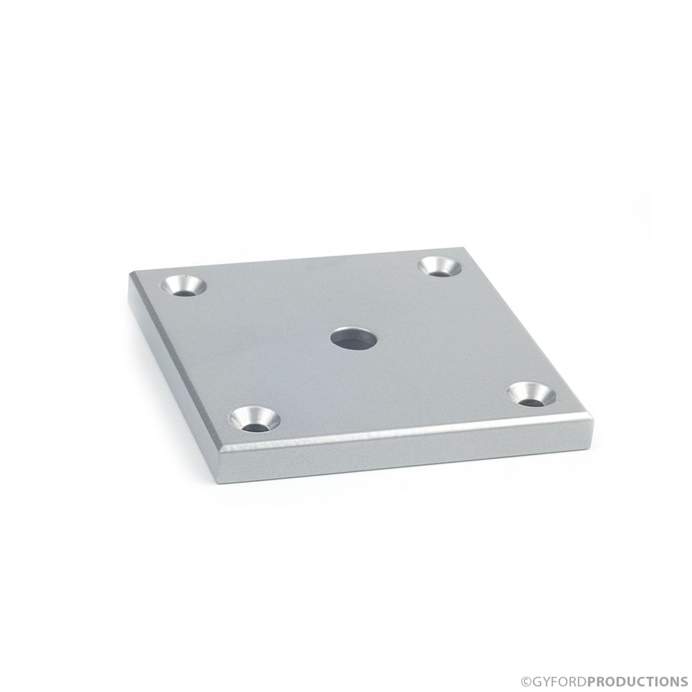 StructureLite Square Mounting Plate with Counterbore thru-hole
