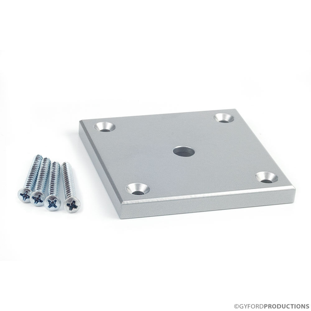 StructureLite Square Mounting Plate with Counterbore Thru-hole & Hardware