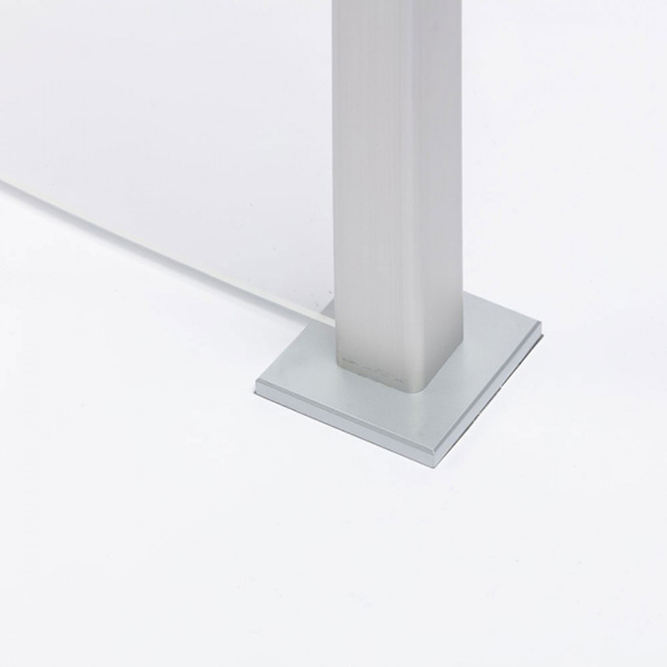 Sneeze Guard Square Base Mount